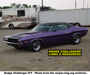 Dodge Challenger Links And Resources