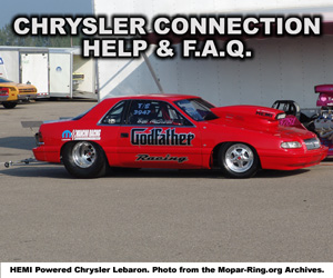 Chrysler Enthusiast Connection Help