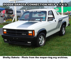 Dodge Dakota Enthusiast Connection Help