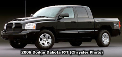 2006 Dodge Dakota R/T Club Cab Photo Side view. Photo from the Chrysler archives