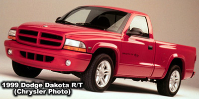"1999 Dodge Dakota R/T regular cab. The R/T stands for ""Road and Track"". Photo from the Chrysler archives"