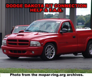 Dodge Dakota R/T Enthusiast Connection Help