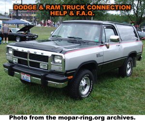 Dodge Dodge And RAM Truck Enthusiast Connection Help