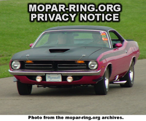 Mopar Enthusiast Ring Privacy Notice