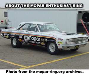 About The Mopar Enthusiast Ring