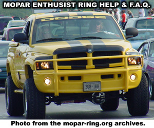 Mopar Enthusiast Ring Help And F.A.Q.