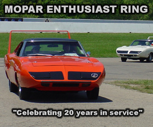 Mopar Enthusiast Ring - 20 Years In Service
